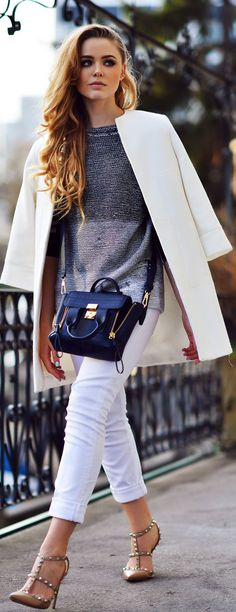 Love this look, pretty for spring!! 3.1 Phillip Lim Ink Pashli Satchel by Kayture