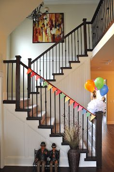 Cute Bunting For Stair Rail