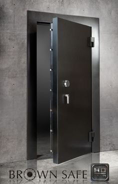The Brown Safe Vault Doors is a premium protection high security door offering the finest in form and function. These vault doors are large and heavily secured safe doors that provide the preferred method of fortification for custom built vaults that are large enough to allow walk in access. Best vault door for safe room doors.