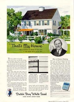 dutch boy lead paint house 1936 more lead house house painting google. Black Bedroom Furniture Sets. Home Design Ideas