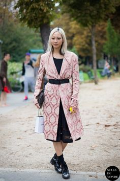 New post on http://www.styledumonde.com with #model model Soo Joo Park #SooJooPark @soojmooj after #Chanel #ss14 #fashionshow at #parisfashionweek #pfw #pfwss14 wearing #pink #rose #coat #outfit #ootd... streetstyle street style #streetstyle #streetfashion #streetchic model off duty #modeloffduty #fashion #mode #style #Paris #weloveit #picoftheday  #bestoftheday #lookoftheday. Photo by #styledumonde