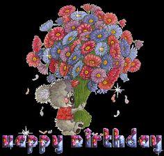 happy birthday gifs | Animated gifs happy birthday, cake, balloons, clowns