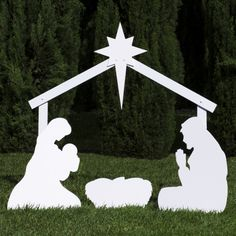 Outfoor Nativity Store Silhouette Outdoor Nativity Set - Holy Family Yard Scene in Collectibles, Holiday & Seasonal, Christmas: Current Christmas Yard Art, Christmas Nativity, Christmas Wood, Outdoor Christmas Decorations, Christmas Angels, Christmas Lights, Christmas Crafts, Nativity Crafts, Christmas Holidays