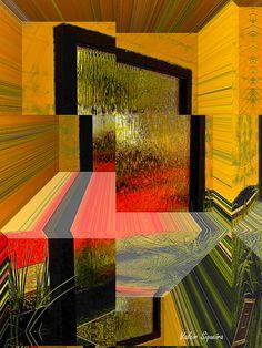 https://flic.kr/p/vQ8tK7 | Espaço tridimensional com quadro de vidro molhado e capim