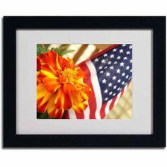 Trademark Fine Art Grace in Honor Canvas Art by Monica Fleet, Black Frame, Size: 11 x 14, Multicolor