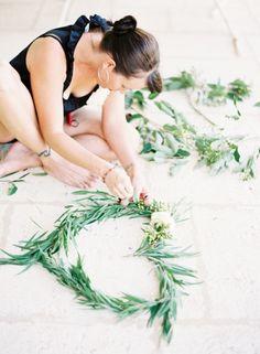 Eucalyptus heart wreaths | jenhuangphoto.com | perth wedding photography