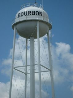 Bourbon Water Tower..Bourbon, Missouri...They sell T-shirts there...LOL