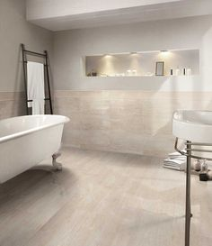 From the smallest size mms) to the largest and with a very broad selection of colours and designs, the tiles and coverings collection meets all possible demands, aesthetic or technical. Marble Look Tile, Tiles Texture, Porcelain Tile, Tile Floor, Building A House, New Homes, Bathtub, Flooring, Contemporary