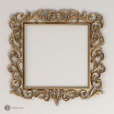3d Frames, Baroque Fashion, 3d Max, Picture Frames, Art Decor, Vintage, 3d Modeling, King Beds, Cnc