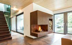 Unsere Kamine | Kaminfabrik (Outdoor Wood Fireplace)