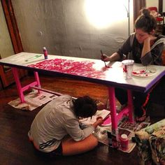 Lilly Pulitzer beer pong table. Umm yes!!