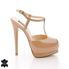 Mia £40 patent leather nude platform sandal