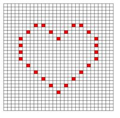 Ravelry: Thin Heart Bobble Chart by Kari Philpott