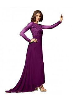 Eid Special Purple Georgette Anarkali Suit -  70634