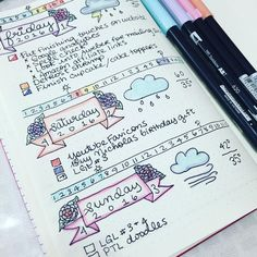 One of the the reasons why I love #bulletjournaling so much is the ability to experiment and find your own style. Here are some floral headers I used for the weekend and I'm pretty happy with how they turned out! ✨✏️ 4.3.16 // #bulletjournal #bujo #bujodoodler #bujojunkies #bulletjournaljunkies #bulletjournaling #leuchtturm1917 #tombow #tombowusa #listersgottalist #plan #planner #plannergeek #plannergirl #plannerlife #plannerlove #planneraddict #plannerjunkie #plannernerd #plannercommunity…