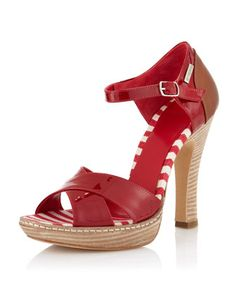 Fdadb Ankle-Strap Pump, Red - Last Call by Neiman Marcus