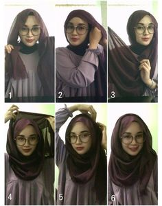 Beautiful 2 Minutes Hijab Tutorial For Glasses - Hijab Fashion Inspiration This. Beautiful 2 Minutes Hijab Tutorial For Glasses – Hijab Fashion Inspiration This is a fun and eas Square Hijab Tutorial, Simple Hijab Tutorial, Hijab Style Tutorial, Scarf Tutorial, Islamic Fashion, Muslim Fashion, Hijab Mode Inspiration, Hijab Wedding, How To Wear Hijab