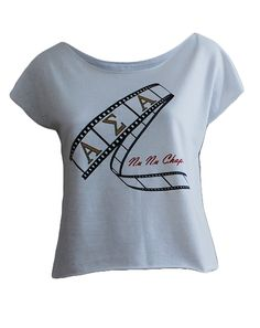 Alpha Sigma Alpha Film Tee by Adam Block Design | Custom Greek Apparel & Sorority Clothes | www.adamblockdesign.com