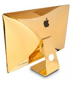 Goldgenie—a customization firm that's gold-plated the likes of bicycles, golf clubs, racing bikes, watches and phone cases—is offering a service to cover new or used iMac or MacBook devices in gold at Goldgenie's London headquarters. Macbook Hard Case, Certificates Online, Buy Apple, Phone Service, Best Cell Phone, Photography Camera, Apple Products, Laptop Computers, Tech Accessories