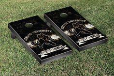 Cornhole Board Set - Adelphi Panthers Banner Vintage Version - 32807