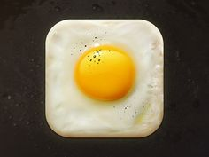 This app is creative and effectively uses space to make an unconventional portrayal of a common food. The photo-realistic aspect is great, but I also think this app could work with a more flat design. Mobile App Icon, Ios App Icon, Mobile Ui, App Icon Design, Web Design, Food Design, Graphic Design, Design Layouts, Brand Design