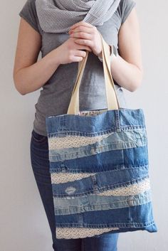 Sacos de jeans: Naver Blog