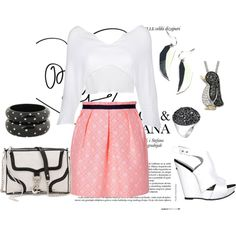 Black white and pink all over, created by tonimb74
