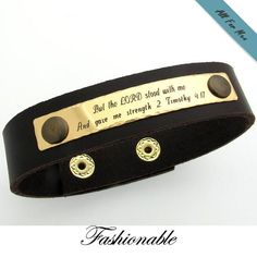 Engraving Ideas for Him / Personalized Leather Bracelet / Groom
