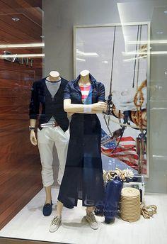 Gant window displays Summer 2012, Budapest visual merchandising