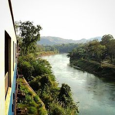 Throwback to 2010 hanging out the window of a very old train on the nicknamed Death Railway along the River Kwai in Thailand #tbt #thailand