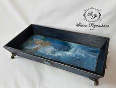 Ваши работы Coffee Tray, Decoupage, Decor, Trays, Decorating, Dekoration, Deco, Decorations, Deck