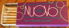 Nuovo Café #matchbox To order your business' own branded #matchbooks and #matchboxes, go to www.GetMatches.com or call 800.605.7331 today!