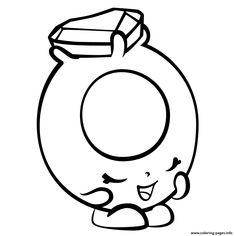 Roxy Ring With Diamond Shopkins Season 3 Coloring Pages Printable And Book To Print For Free Find More Online Kids Adults