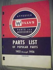 1952 1953 1954 1955 1956 Willys Jeep Parts Book Pickup Wagon Forward Control