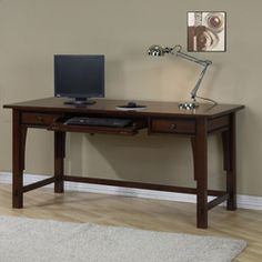 @Overstock - Make study time easier with this Talisman writing desk  Home office furniture has a walnut cherry finish  Desk has two drawers for storagehttp://www.overstock.com/Home-Garden/Talisman-2-drawer-Writing-Desk/4068567/product.html?CID=214117 $299.99