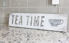 Weathered wooden sign DIY