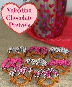 Valentine Chocolate Pretzels - Nifty Thrifty Savings