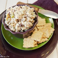 Chicken Salad 2	cups cooked chicken, cubed ½	cup slivered almonds, toasted ¼	cup celery, finely chopped 1-2	tablespoons poppy seeds ⅓	cup dried cranberries ¼	cup Greek yogurt, unflavored (may substitute more mayo) ½	cup mayonnaise (I use reduced fat) 1	teaspoon lemon juice Pinch of sugar Salt