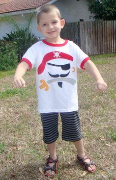 pirate applique shirt