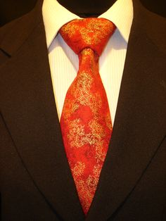 Mens Necktie, Mens Tie, Red Necktie, Red Tie, Asian Necktie, Asian Tie, Floral Necktie, Floral Tie, Gold Necktie, Gold Tie, Cotton Necktie by EdsNeckties on Etsy