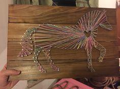 Horse string art! Get free lingerie at http://www.kinky-lingerie.co.uk