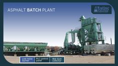 Asphalt discontinuous plant is available in capacities 80 tph, 120 tph and 160 tph. Capacities above 160 tph are tailor made.  Seen here is asphalt plant batch type of 80 tph with PLC control panel and venturi type wet dust collector unit. Full Product Details: http://www.atlasindustries.in/asphalt-batching-plant.html