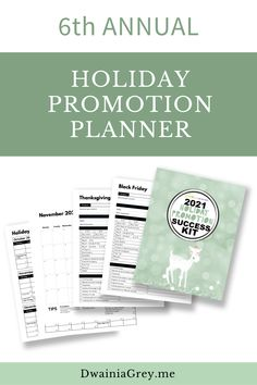 The 2021 Holiday Promotion Success Kit is the ultimate planner to capture holiday sales.6th ANNUAL - REVISED AND UPDATED FOR 2021 WITH NEW PAGES AND MORE HOLIDAY PROMO IDEASUse this 4th Quarter Planner to plan your custom holiday promotions as well as Christmas, Thanksgiving, Black Friday, Cyber Monday, Giving Tuesday, and more. Buy Now! #blackfriday Social Media Cheat Sheet, Budget Template, Holiday Sales, Letter Size, Cyber Monday, Black Friday, Tuesday, Promotion, Thanksgiving