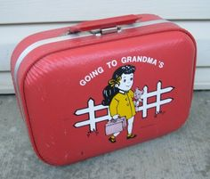 Vintage Red Luggage Case - I think I had the blue one!