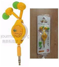 Gourmandise Digimon Adventure  Reel-style Stereo Earphones Agumon #BANDAI