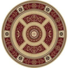 Home Dynamix Regency Collection 8307 Elegant and Stylish Area Rug, Red