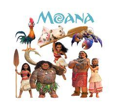 Moana Disney Movie 2016 Clipart. от FoxArtCards на Etsy