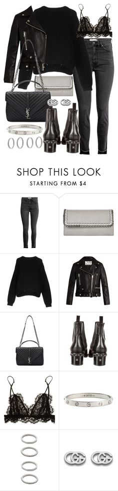 """Untitled #21928"" by florencia95 ❤ liked on Polyvore featuring STELLA McCARTNEY, Acne Studios, Yves Saint Laurent, Chanel, Isabel Marant, Cartier, Forever 21 and Gucci"