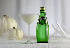PERRIER Ghost Martini  This Halloween, dress up your classic cocktail with a classic costume.