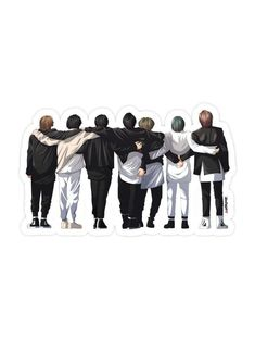 BTS Hug Sticker   Etsy Kpop Stickers, Hug Stickers, Korean Stickers, Tumblr Stickers, Printable Stickers, Bts Tickets, Bts Concept Photo, Japon Illustration, Applis Photo